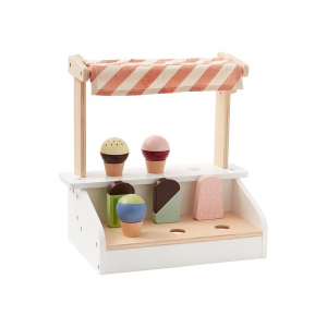 wooden ice cream stand