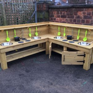 corner mud kitchen