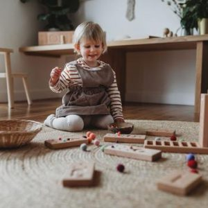 wooden number counting blocks