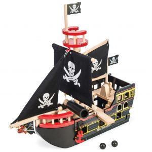 Le Toy Van Barbarossa Pirate Ship Black