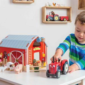 Le Toy Van Bertie Red Tractor