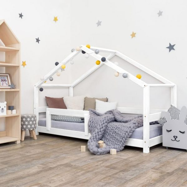 Benlemi Lucky House Bed with Rails