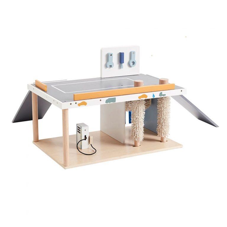 Kids-Concept-Wooden-Garage-and-Car-Wash-Set