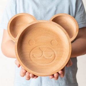 The wood life Project eco friendly childrens plate