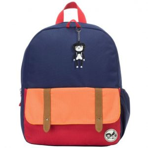 Babymel Navy colour block backpack