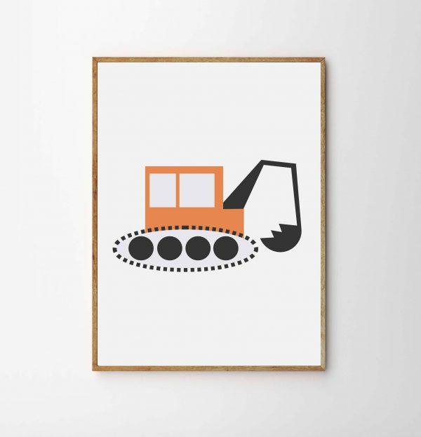 children's digger print