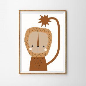 Lion children's print