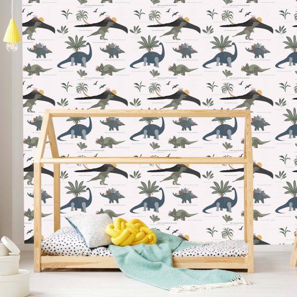dinosaur wallpaper, children's wallpaper
