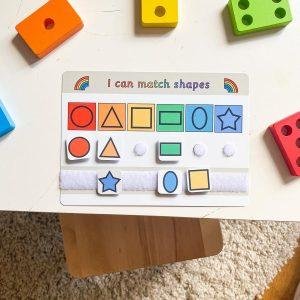 Shapes matching mat