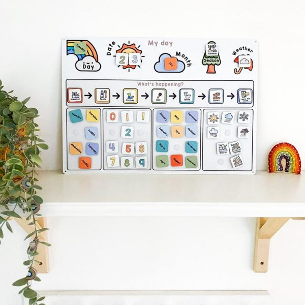 Children's Calendar, Children's Educational Calendar, Learning Bugs, Children's Routine Calendar