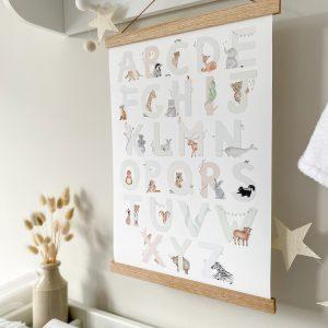 Nursery Alphabet Print, Learning Bugs