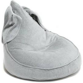 Wigiwama Bunny Beanbag - Velvet Grey