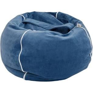 Wigiwama Bubble Beanbag - Deep Blue Velvet