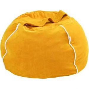 Wigiwama Bubble Beanbag - Mustard Velvet