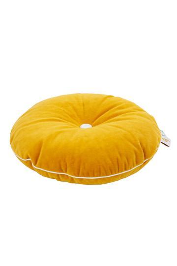 Wigiwama Button Cushion Mustard