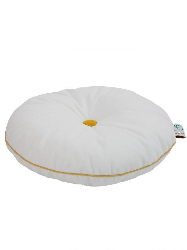Wigiwama Button Cushion - White