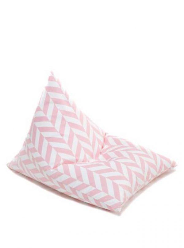 Wigiwama Classy Beanbag - Pink Herringbone