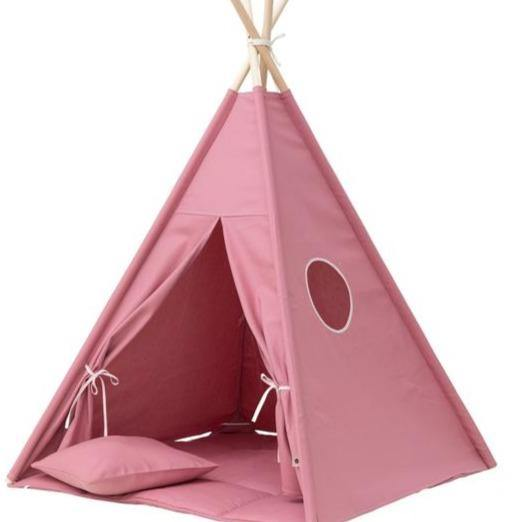 Wigiwama Plain Blush Pink Teepee Set