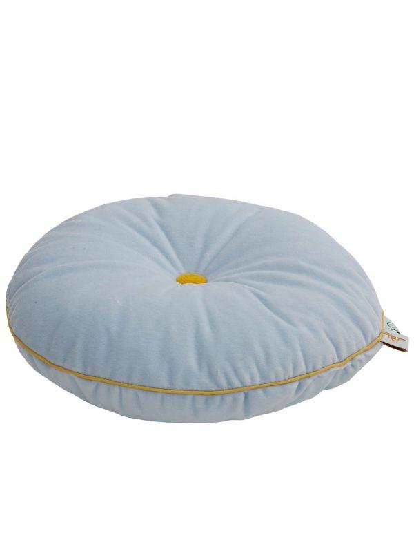 Wigiwama Button Cushion - Baby Blue