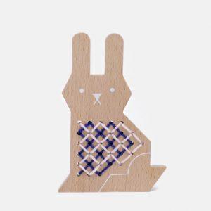 Moon Picnic Cross Stitch Friend - Rabbit