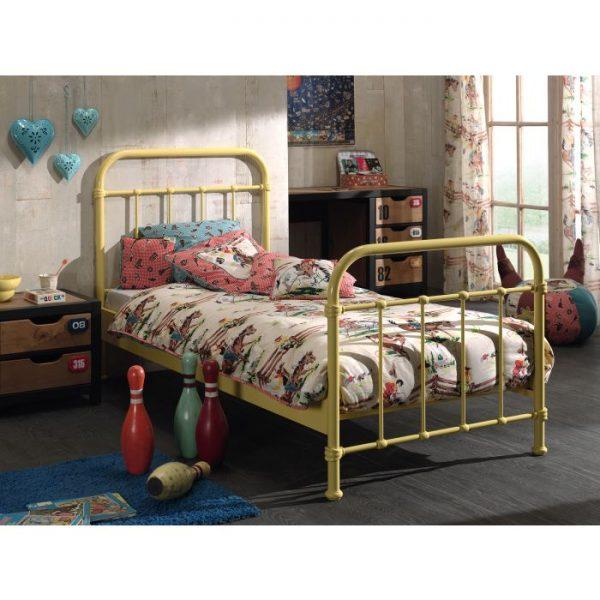 Vipack New York Metal Bed - Yellow