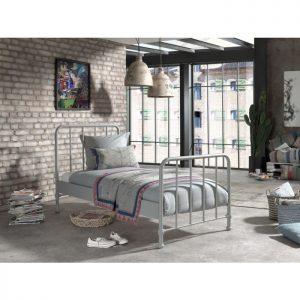 Vipack Bronx Bed - Rainy Grey