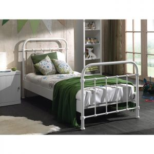 Vipack New York Metal Bed - White