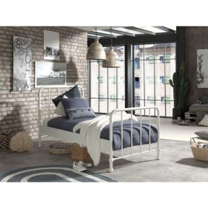 Vipack Bronx Bed - White