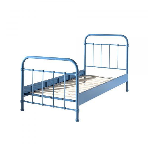 New York metal bed blue