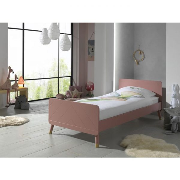Vipack Billy Bed - Terra Pink