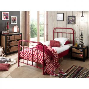 Vipack New York Metal Bed - Red