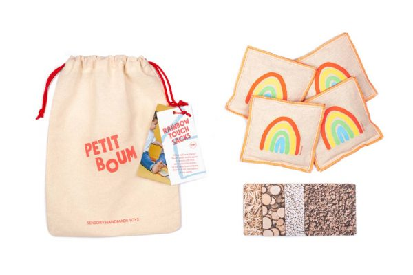 petit boum rainbow touch sacks