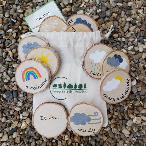 Green Earth Wooden learning disks - Weather