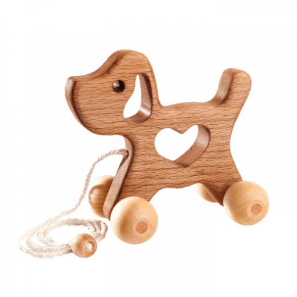 Poppy Baby Co Wooden Pull Along Dog