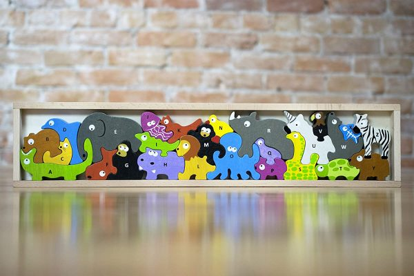 Begin Again Animal Alphabet Parade Puzzle And Playset