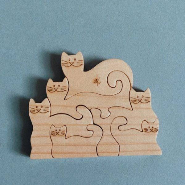 Kaspi Land Wooden Cat Puzzle