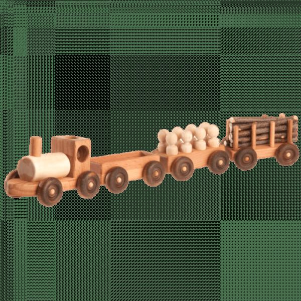 Poppy Baby Co Handmade Wooden Toy Train