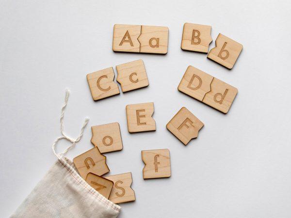 Gladfolk wooden alphabet puzzle
